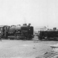乙種修繕のため(株)釧路製作所釧路工場に入場した9600形No.4号機 昭和33年5月