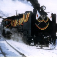 「南大夕張~大夕張炭山間一部廃線さよなら列車」混合4・5列車牽引No.3号、大夕張炭山、昭和48年12月15日。