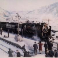 「さよならSL列車」貨物106・106列車、南大夕張、昭和48年12月28日。