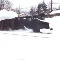 「キ1+No.5」による排雪列車。昭和47年頃、南大夕張。