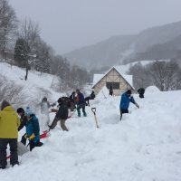 2月4日『SL館』の雪おろし開催